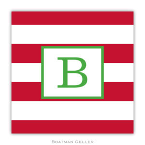 Paper Coasters - Awning Stripe Red